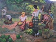 Filipina Prints - Fruits Seller Print by Vicente Santos