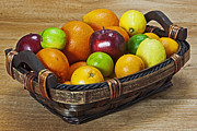 Basket Prints - fruits with vitamin C Print by Joana Kruse