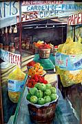 Peanuts Paintings - Fruitstand Rhythms by Linda Shackelford