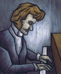 Player Pastels Framed Prints - Fryderyk Chopin - Prelude in E-Minor Framed Print by Kamil Swiatek
