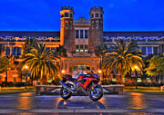 Fsu Posters - FSU Motorcycle close Poster by Alex Owen