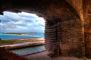 Dry Tortugas Framed Prints - Ft. Jackson and Its Horizon Framed Print by Andres Leon