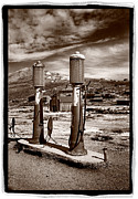 Fuel Prints - Fuel Pumps and Firehouse In Bodie Print by Steve Gadomski