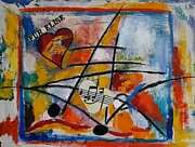 Musical Notes Painting Originals - Fuer Elise by Karin Eisermann