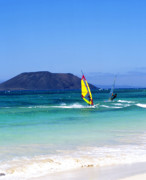 Surf Lifestyle Framed Prints - Fuerteventura Windsurfing Framed Print by Paul Phillips