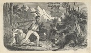 Slavery Prints - Fugitive Slave Henry Bibb With His Wife Print by Everett