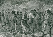 Free Blacks Posters - Fugitive Slaves Fleeing From Eastern Poster by Everett
