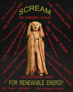 Scream Mixed Media Posters - Fukushima Japan Poster by Eric Kempson