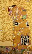 Art Nouveau Framed Prints - Fulfilment Stoclet Frieze Framed Print by Gustav Klimt