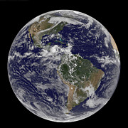 Featured Art - Full Earth Showing North America by Stocktrek Images