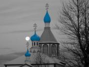 Russian Orthodox Framed Prints - Full Moon Blues Framed Print by Rick  Monyahan