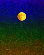 Sea Moon Full Moon Prints - Full Moon Print by Dale   Ford