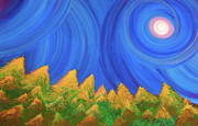 Jrr Paintings - Full Moon Forest by jrr by First Star Art
