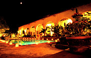 Alamos Photo Posters - Full Moon Hacienda de los Santos Poster by Thomas R Fletcher