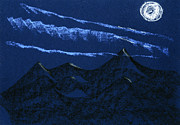 Moon Pastels Metal Prints - Full Moon Night Metal Print by Hakon Soreide