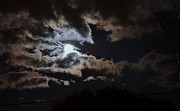 Full Moon Art - Full Moon Over Montreal by Reb Frost