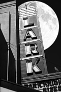 Old Theater Framed Prints - Full Moon Over The Lark - Larkspur California - 5D18489 - Black and White Framed Print by Wingsdomain Art and Photography