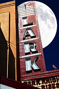 Old Theater Framed Prints - Full Moon Over The Lark - Larkspur California - 5D18489 Framed Print by Wingsdomain Art and Photography