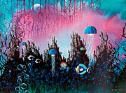 Scuba Paintings - Full Moon Rising by Lee Pantas