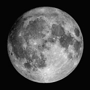 Black And White Photography Metal Prints - Full Moon Metal Print by Roth Ritter