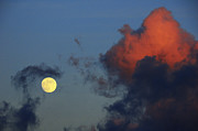 Full Moon Prints - Full Moon with Clouds Print by Thomas R Fletcher
