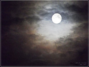 Ym_art Prints - Full Moon  Print by Yvon -aka- Yanieck  Mariani