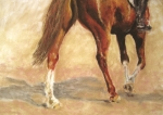 Horse Pastels Originals - Full of Verve by Sabina Haas