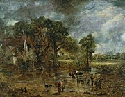 Full Framed Prints - Full scale study for The Hay Wain Framed Print by John Constable