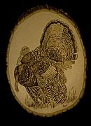 Turkey Pyrography - Full Strut by Mike Padgett