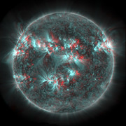 Flares Prints - Full Sun With Lots Of Sunspots Print by Stocktrek Images