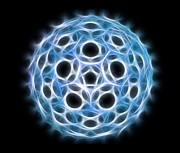 Molecular Structure Art - Fullerene Molecule, Artwork by Laguna Design