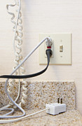 Counter Top Posters - Fully Loaded Electrical Plug Poster by Thom Gourley/Flatbread Images, LLC