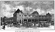 Fish Cart Framed Prints - Fulton Fish Market, 1882 Framed Print by Granger