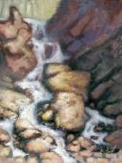 Waterfalls Paintings - Fumee Falls by Larry Seiler