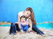 Kay Painting Originals - Fun at the Beach by Judy Kay