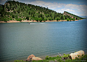Horsetooth Reservoir Art - Fun at the Lake by Aaron Burrows