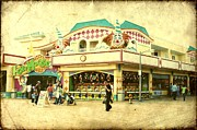 Vintage Digital Art Digital Art Metal Prints - Fun House - Jersey Shore Metal Print by Angie McKenzie