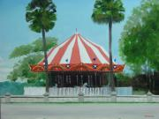 Merry-go-round Painting Originals - Fun In The Sun by Robert Rohrich