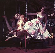 Young Horses Prints - Fun Ride, Sun Dress Print by A. E. French/Archive Photos