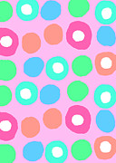 Spots  Digital Art Posters - Fun Spots Poster by Louisa Knight