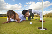 Engagement Photo Prints - Fun Wedding At The Golf Course  Print by Andre Babiak