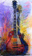 Watercolor Metal Prints - Fun With Les Metal Print by Andrew King