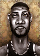 Nba Digital Art Framed Prints - Fundamental Framed Print by Jack Perkins