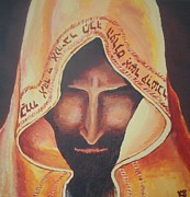 Prayer Shawl Paintings - Fundraise series 3 Praying Jew by Kerstin Berthold