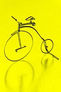 Yellow Bike Framed Prints - Funky Bicycle Framed Print by Sophie Vigneault