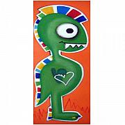 Extinct And Mythical Pastels Originals - fUNKY dINOSAUR by Mara Morea