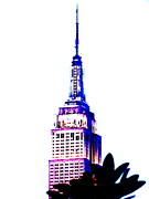 Pix Framed Prints - Funky Empire State in NY Framed Print by Funkpix Photo Hunter