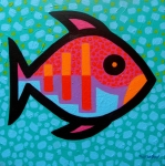 Fish Print Framed Prints - Funky Fish III  Framed Print by John  Nolan
