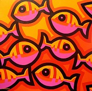 Dots Paintings - Funky Fish IV by John  Nolan