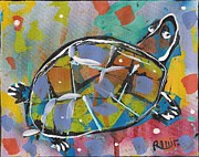 Post Modern Mixed Media - Funky Folk Turtle 2012 by Robert Wolverton Jr